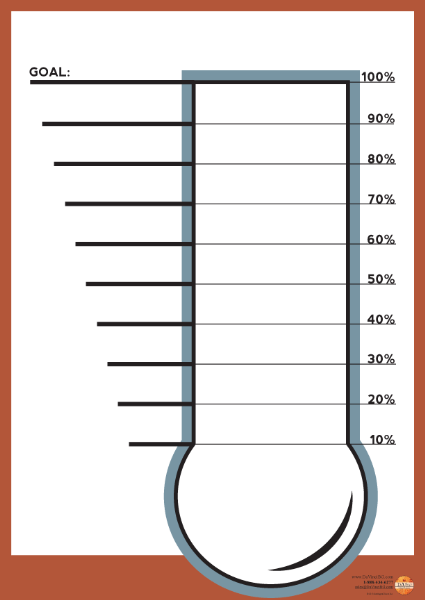 Thermometer Chart Template. best photos of printable thermometer ...