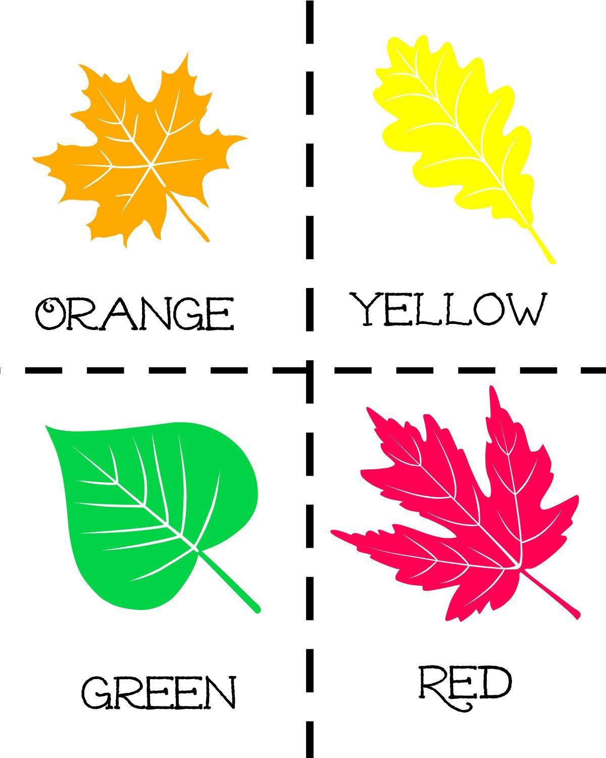 Fall Leaf Scavenger Hunt With Free Printable Worksheet