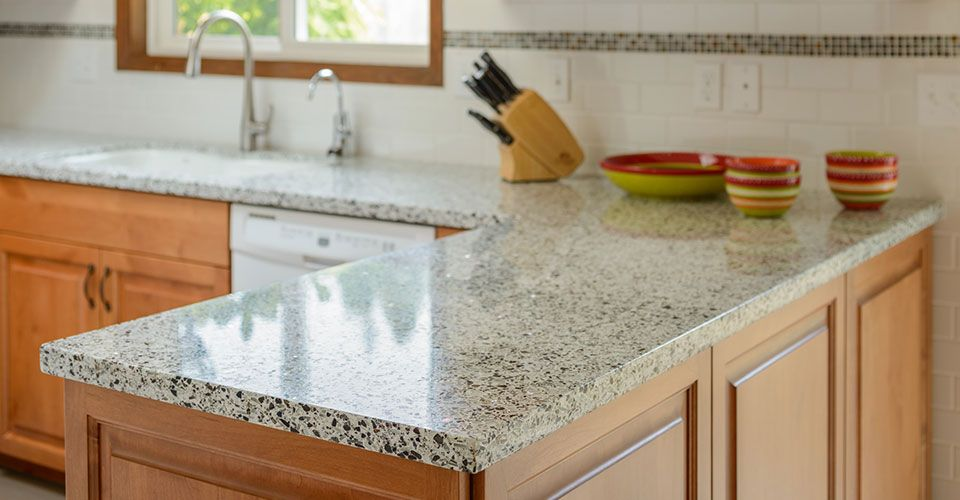 Great Ecocrush Countertops Subway With Accent Strip Ankeny