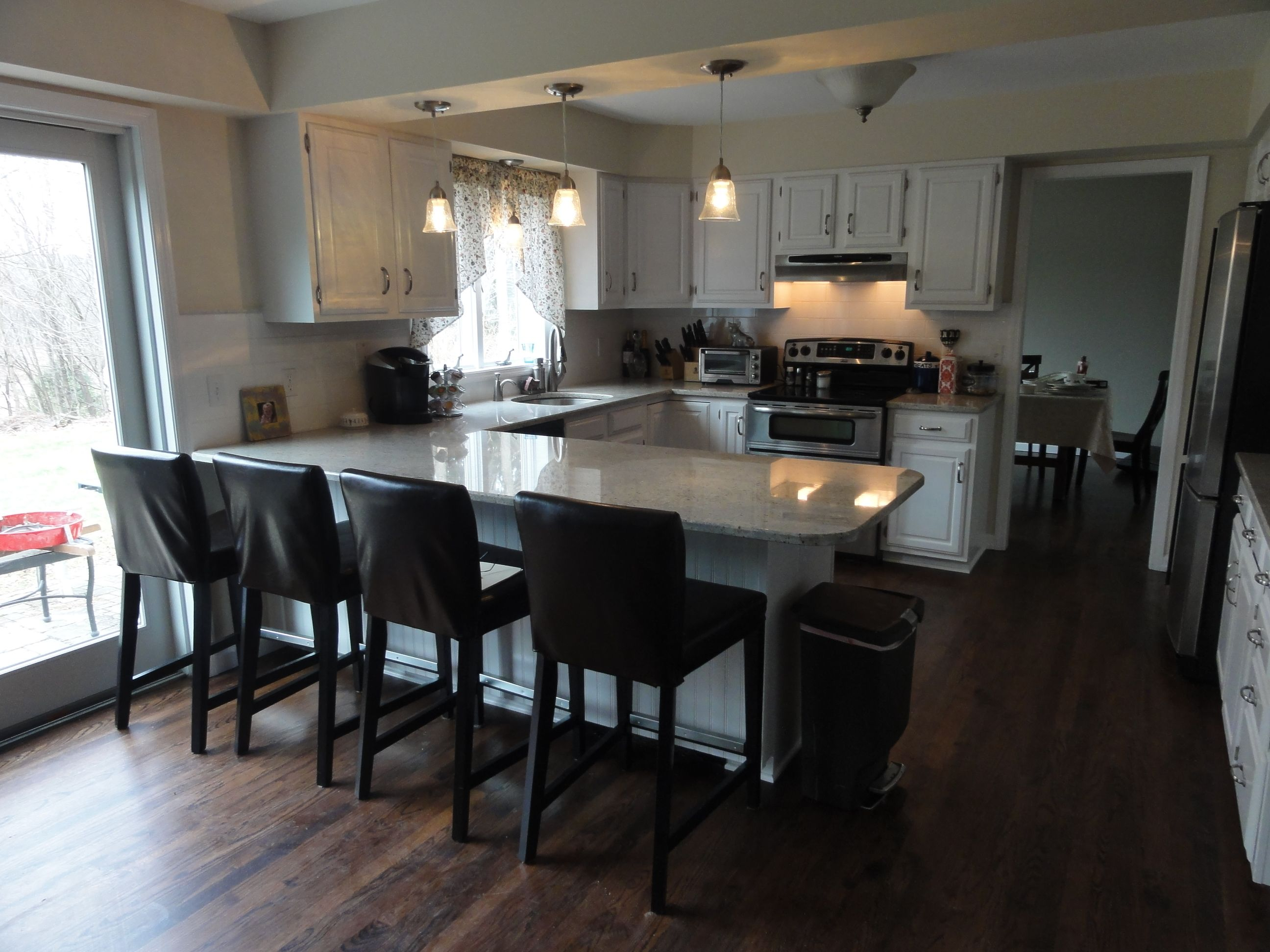 Small U Shaped Kitchen With Island For the Home