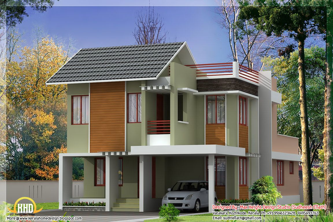 ^ Low ost wo Story House Plans In Sri Lanka. ft modern kerala home ...