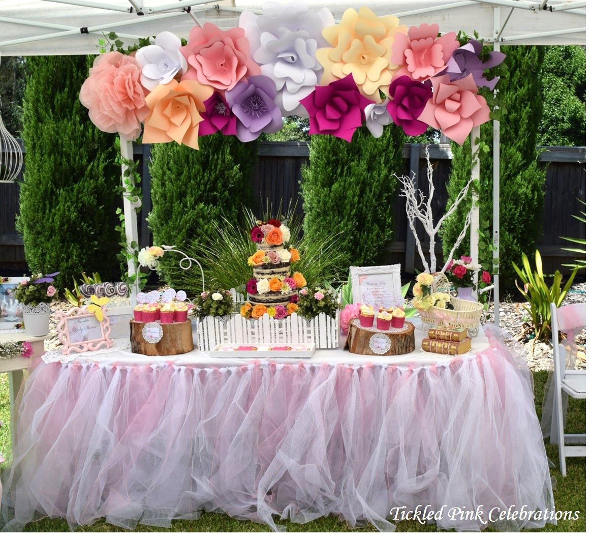Little Wish Parties Enchanted Garden Baby Shower https