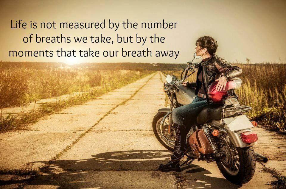Life is not measured A bikers life. Pinterest Bikers