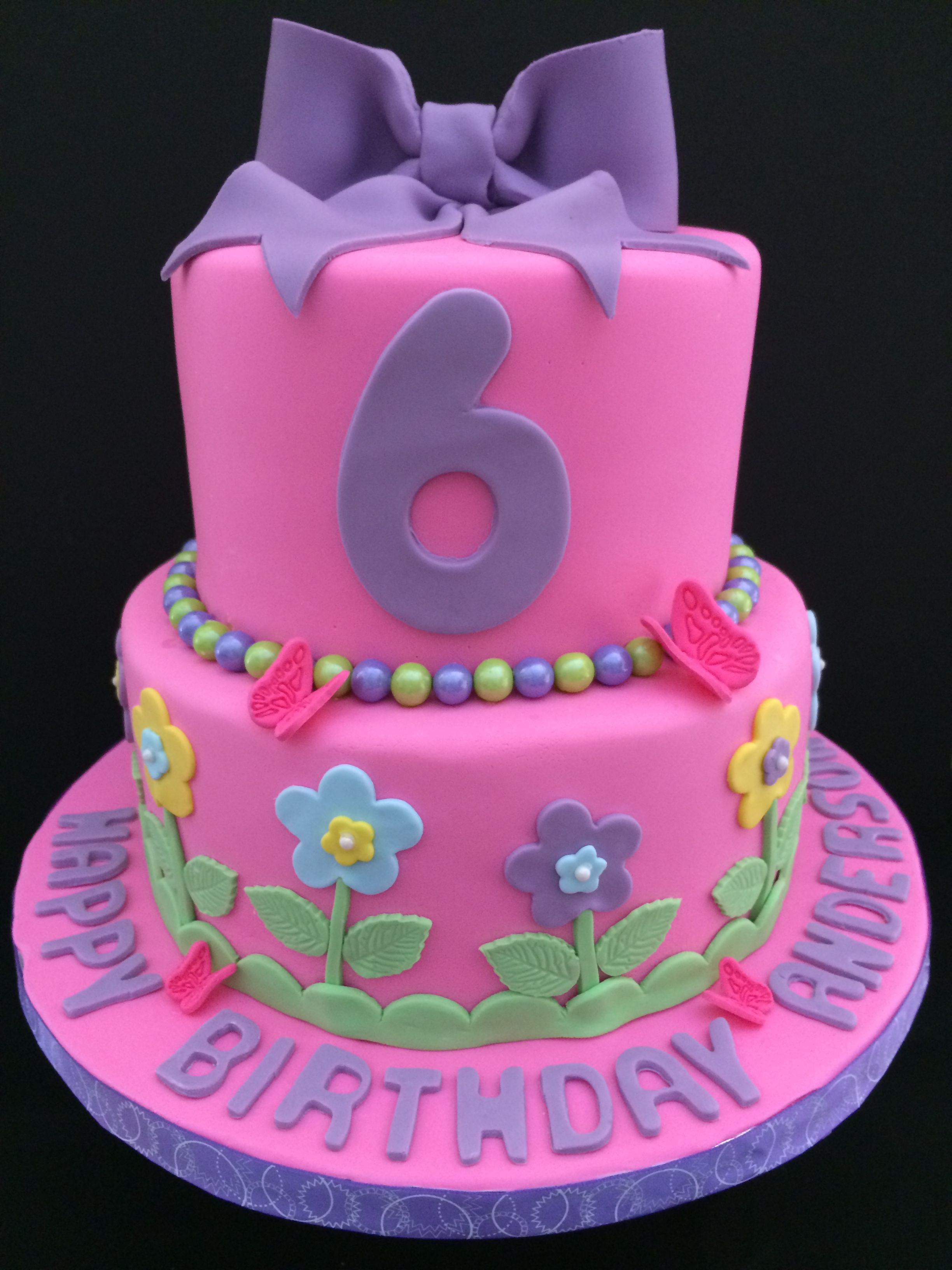Birthday cake for a 6 year old girl Cakes Pinterest