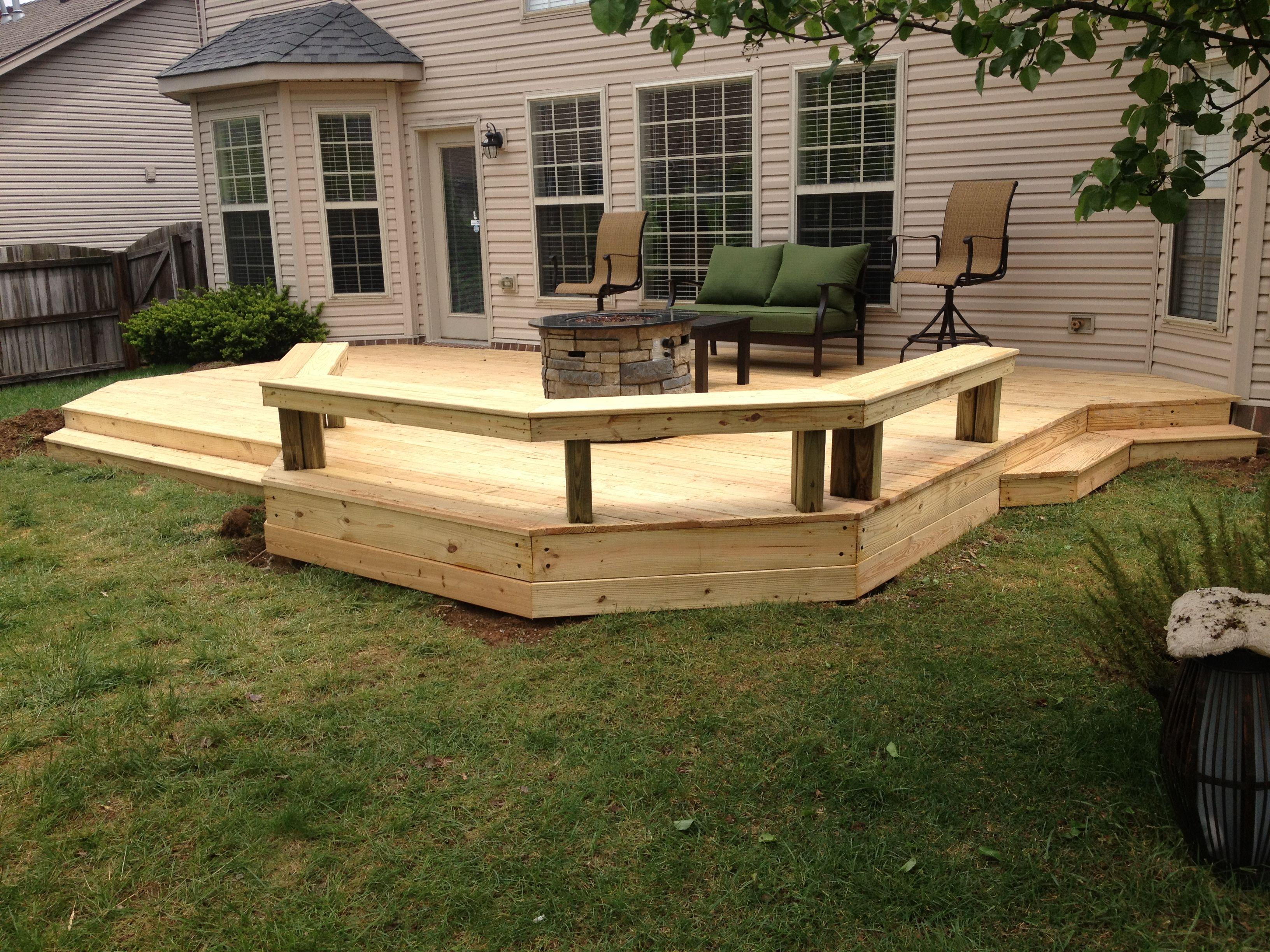 Nice Low level deck finished last week Wood Decks