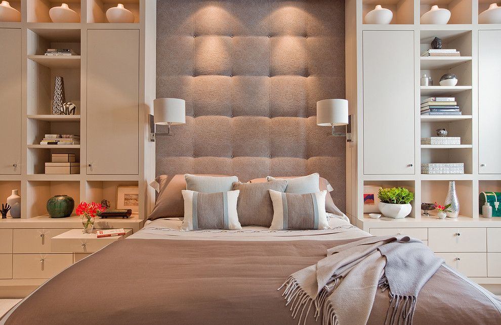 Cushion Headboard Bedroom Contemporary With Bed Pillows