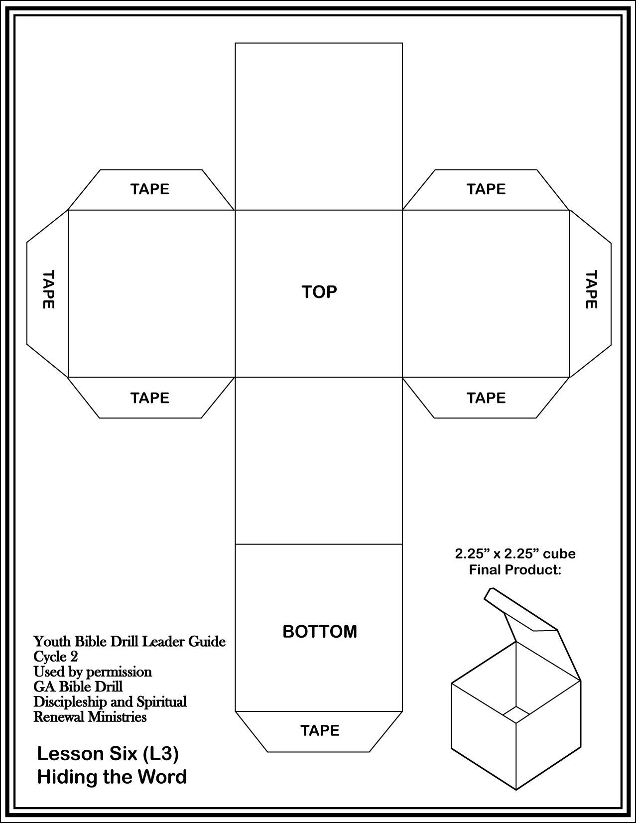 Download And Print Off The Cube Template On Cardstock And Assemble Use To Create Games To