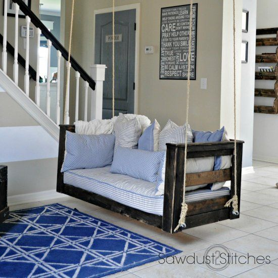Check Out Recycle Your Previous Crib Mattresake A Soothing Porch Swing Plans Right