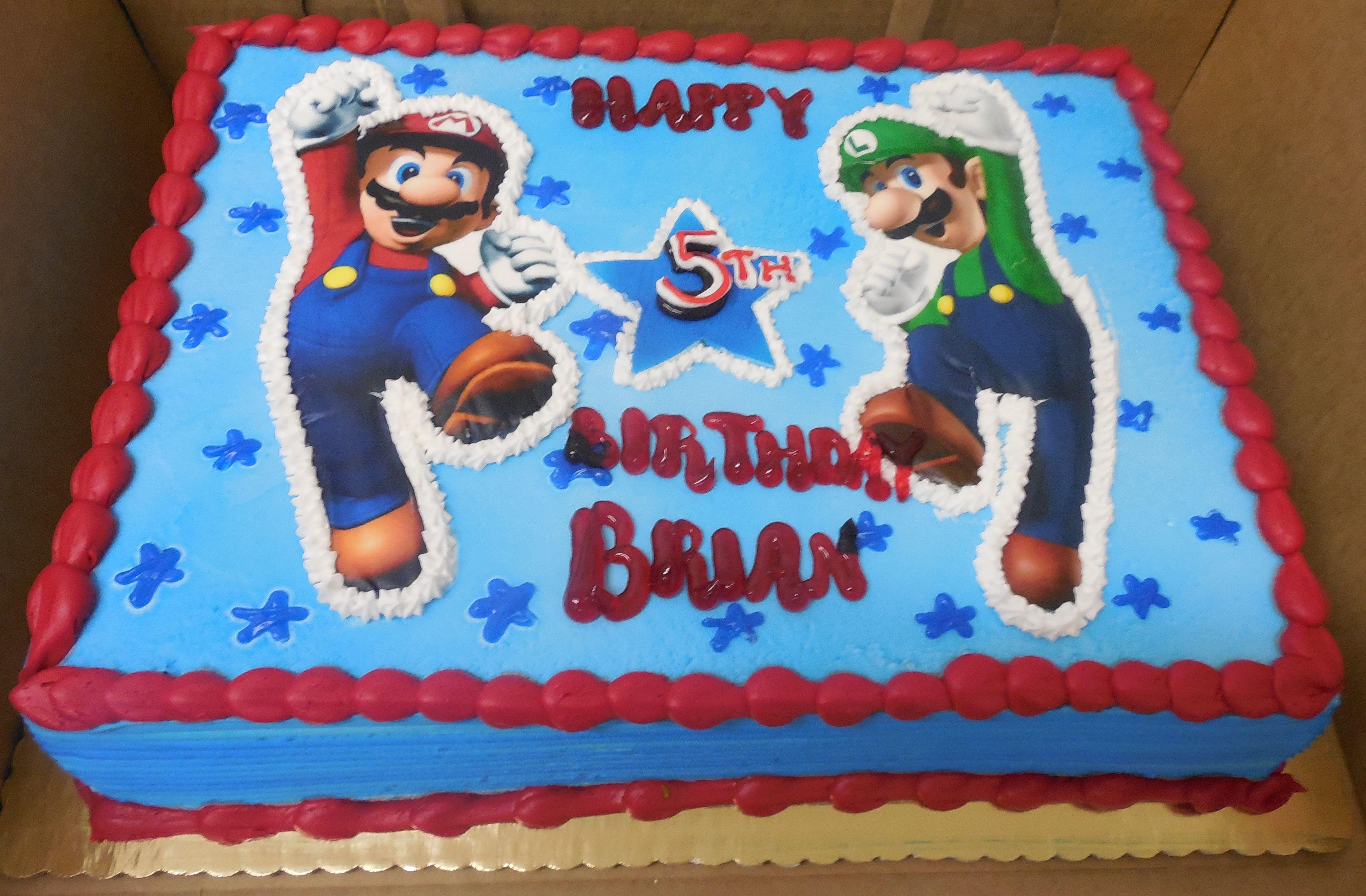 Calumet Bakery Mario And Luigi Birthday Cake