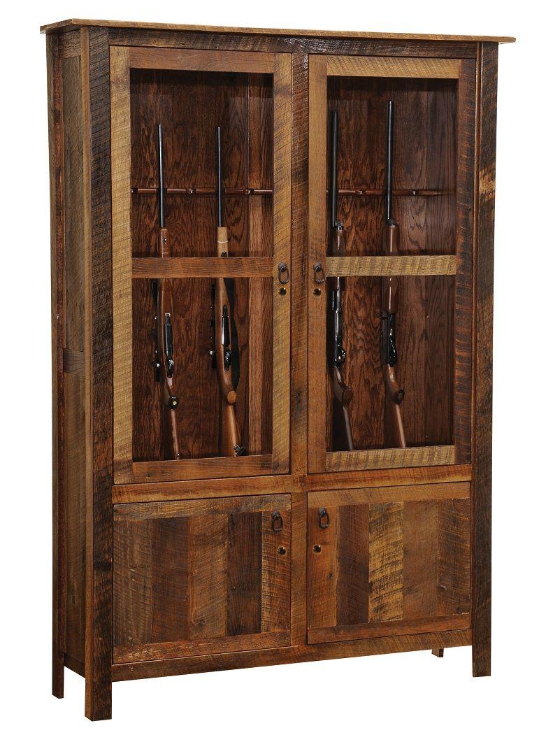 Barnwood Gun Cabinet Pinteres
