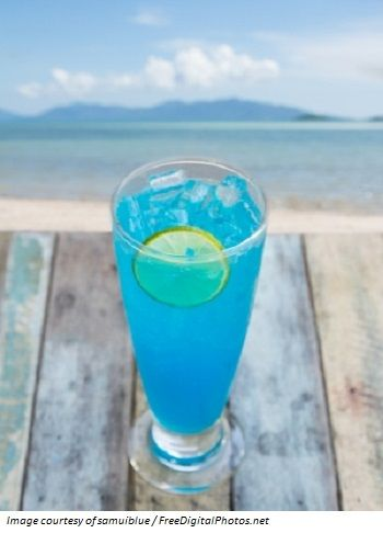 Brilliant Blue Punch - Bright blue is a classic color for a cocktail and this recipe gives a really bright blue drink that also packs a punch.