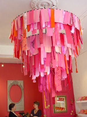 Paper Chandeliers