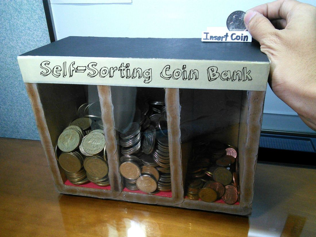 Diy selfsorting coin bank diy pinterest wood toys