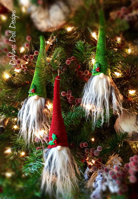 Tomte Nisse Gnome Scandinavian Christmas Hanging Ornaments