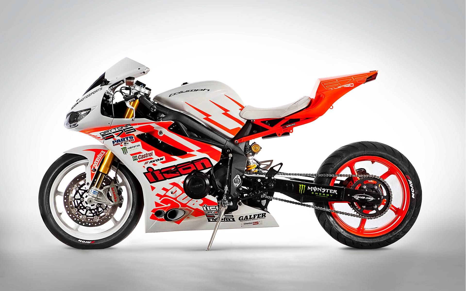 Icon Driftpocalypse Ernie Vigil_ Daytona 675 Drift Bike