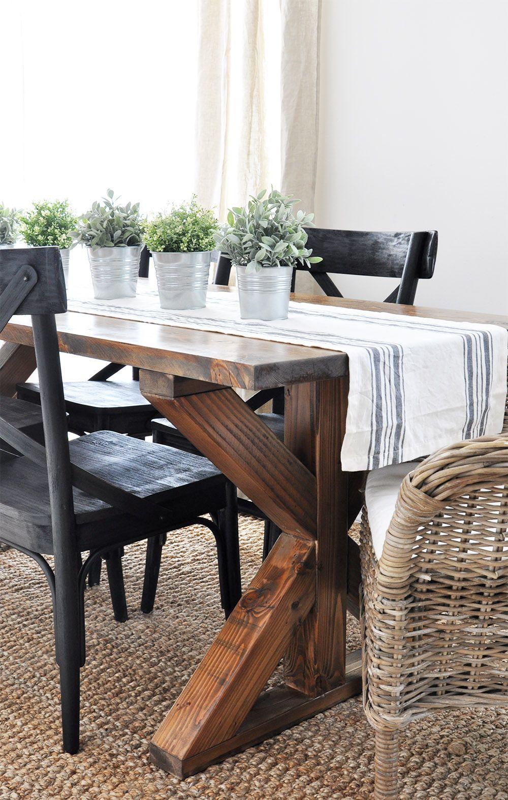 X Brace Farmhouse Table Farmhouse table and Farmhouse style