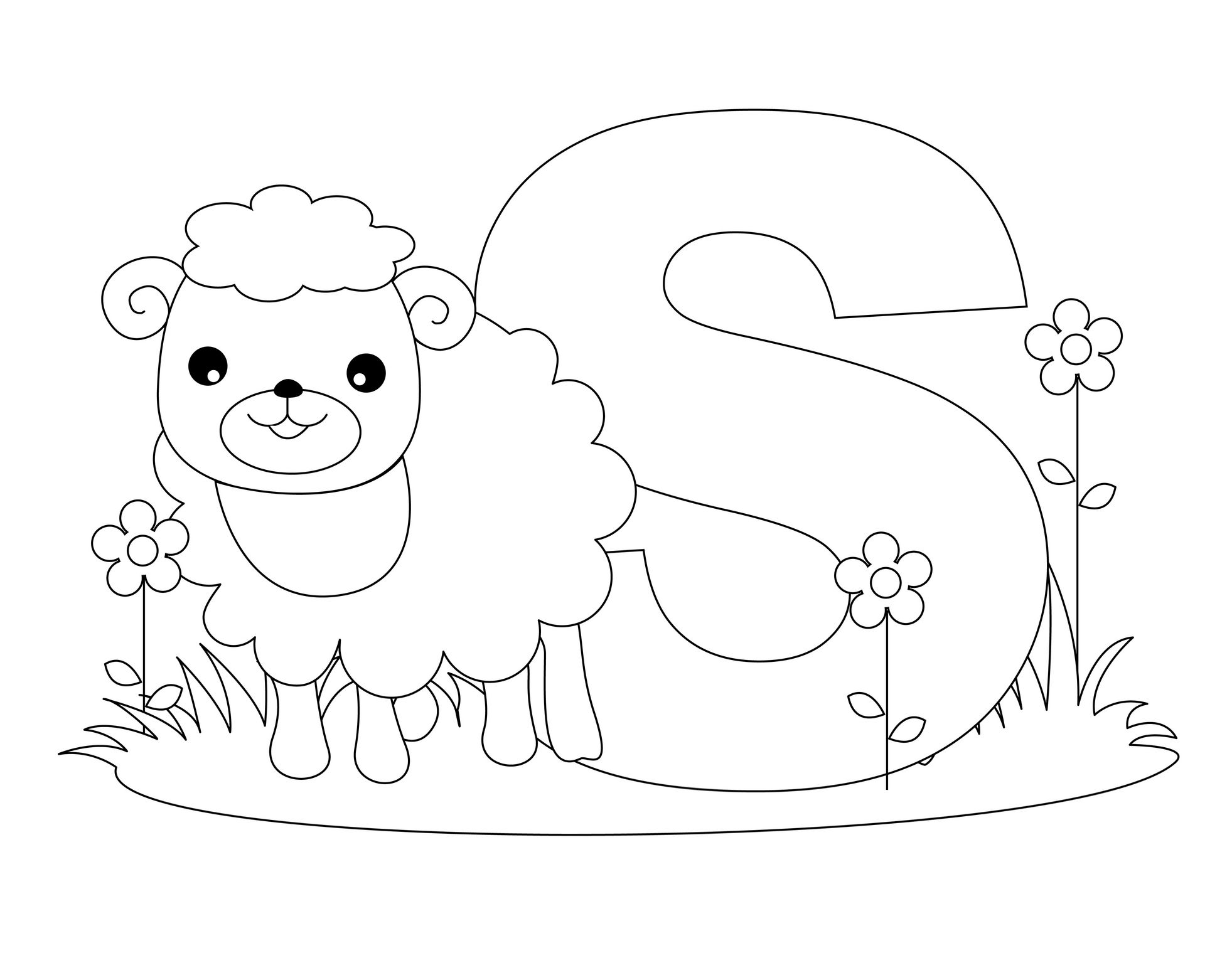 Animal Alphabet Letter S Is For Sheep