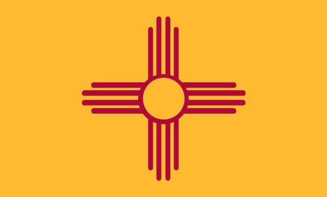 New Mexico State Flag Coloring Pages Newmexico