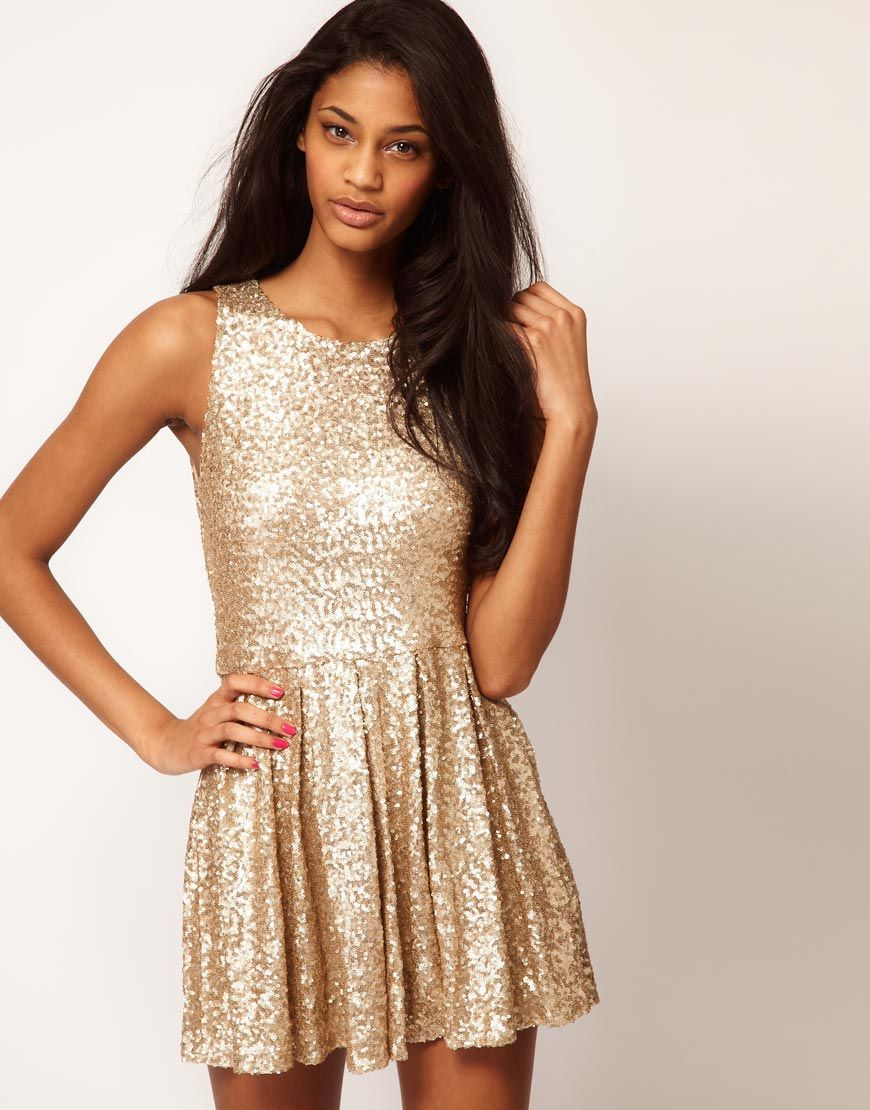 gold sequin dress / asos New Years Eve ? Potentially. I