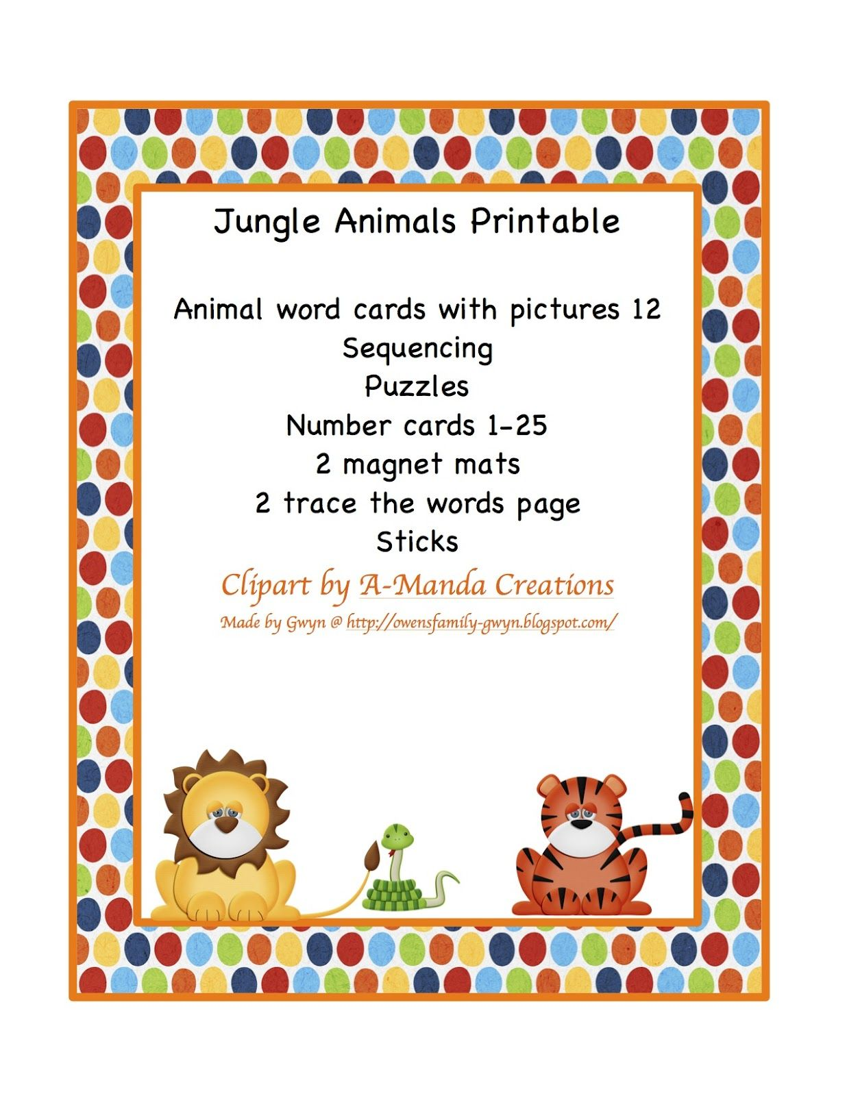 Preschool Printables Jungle