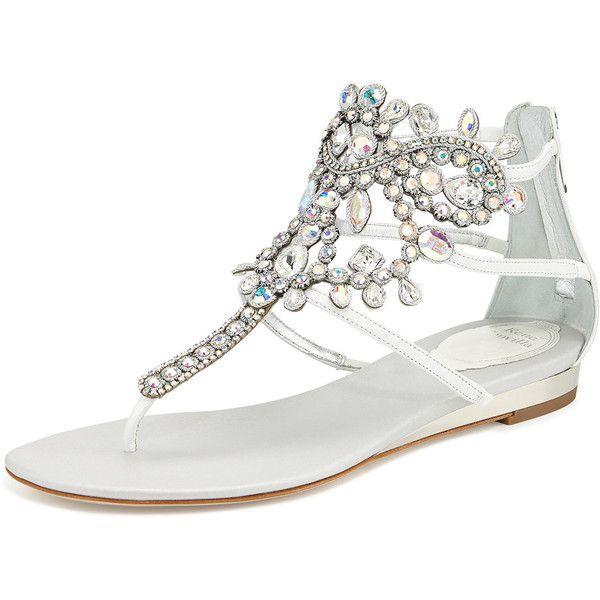Rene Caovilla Crystal Chandelier Sandal White Iridescent