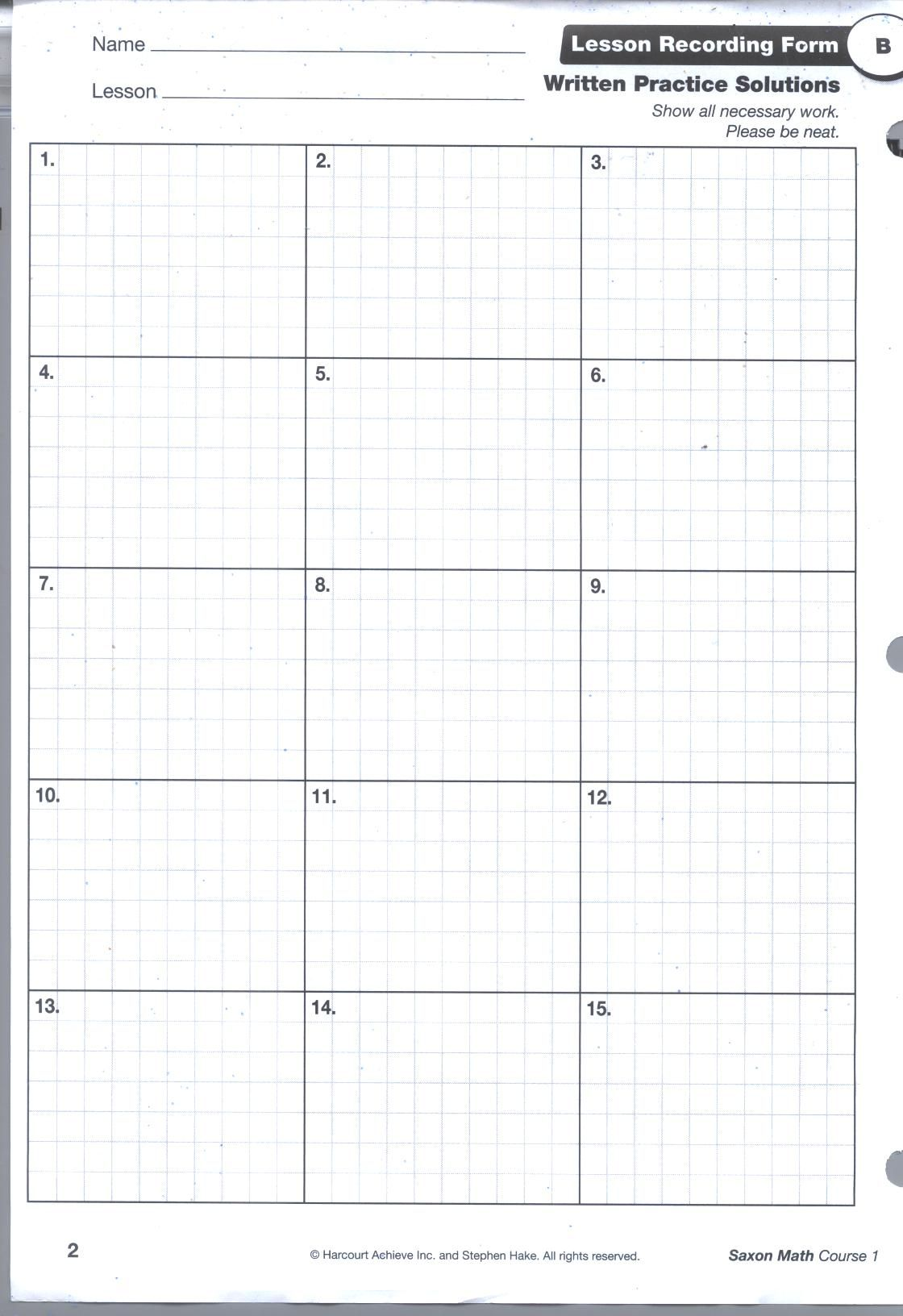 Printable Graph Paper For Math Homework