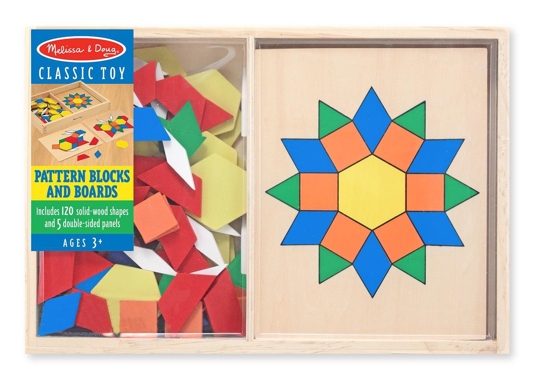 Mosaics Preschool Toy Geometric Shapes Wooden Tiles