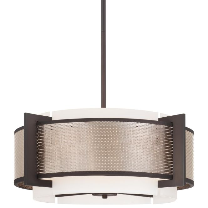 The Kovacs Brushed Nickel Direct For 4 Light Drum Pendant From Mainly Mesh Collection And Save