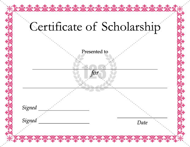 Scholarship Templates sample letter of recommendation for – Certificate of Recommendation Sample