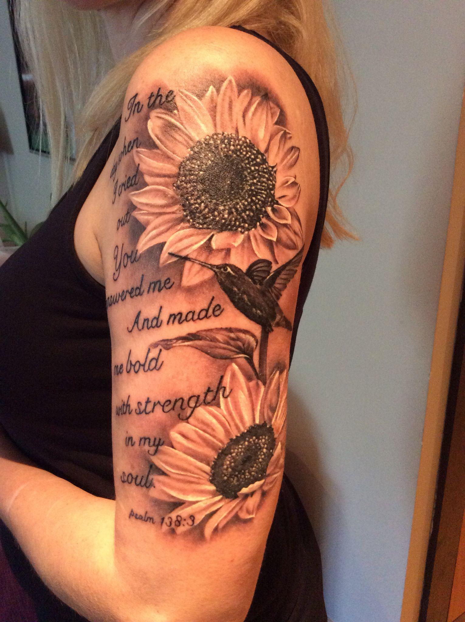 My beautiful sunflower tattoo flowers Pinterest