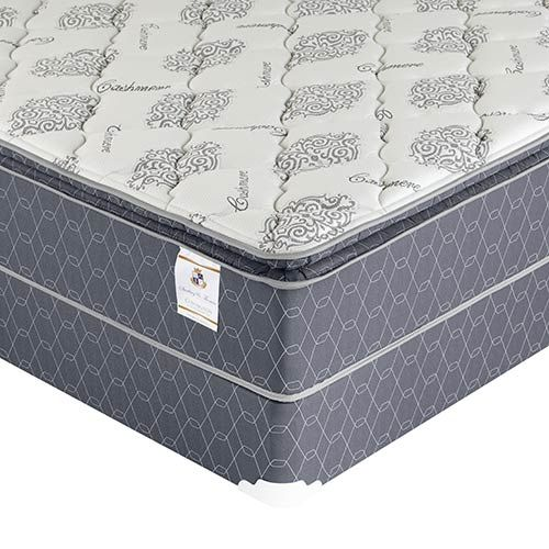 Sterling Thomas Covington Luxury Pillow Top Queen Mattress And Foundation
