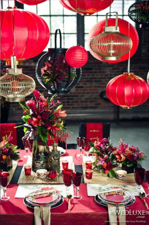 Chinese New Year tablescape TableScapes...Table Settings