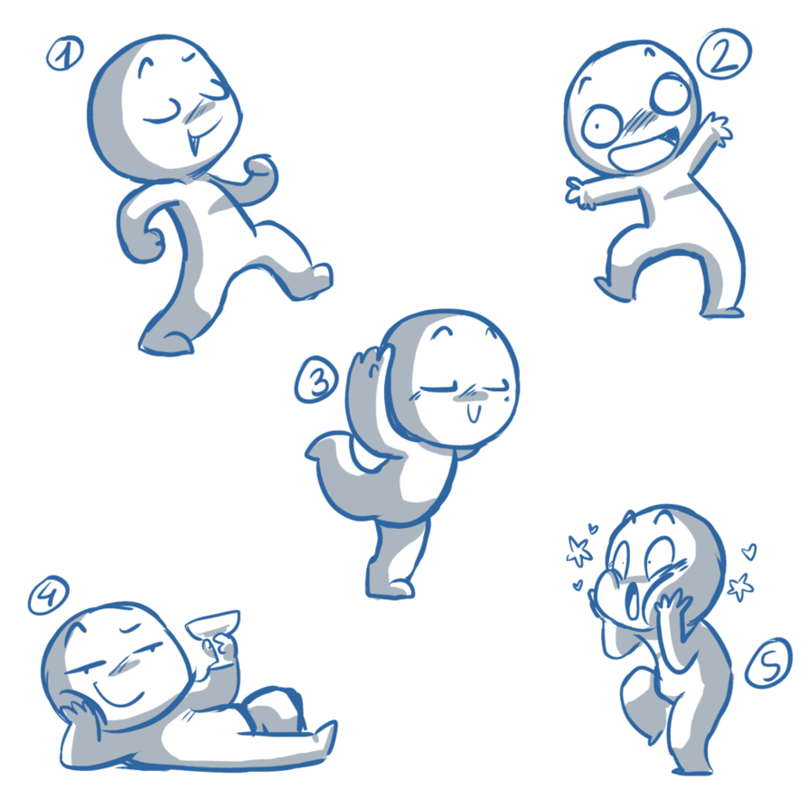 Weird Chibi Poses *YCH* closed by LeniProduction my
