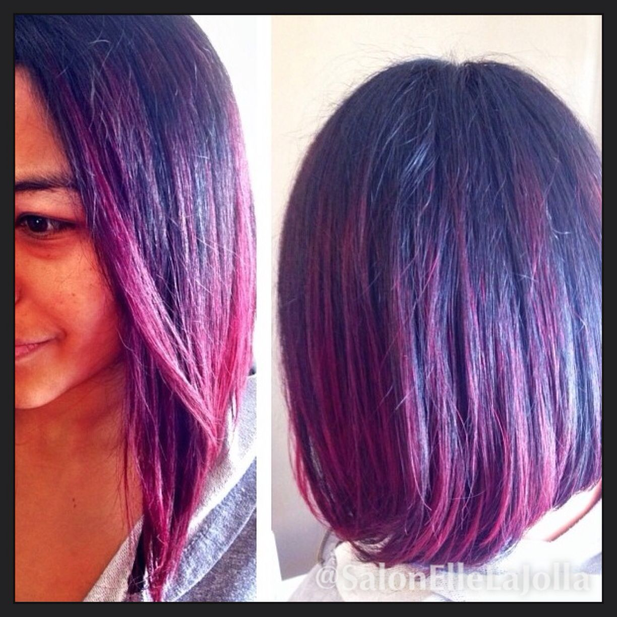 Purple Hair Red Hair Color Black And Red Hair Ombre