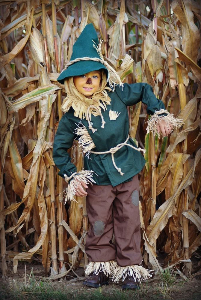 Wizard of Oz HANDMADE Scarecrow costume childrens size 4/5