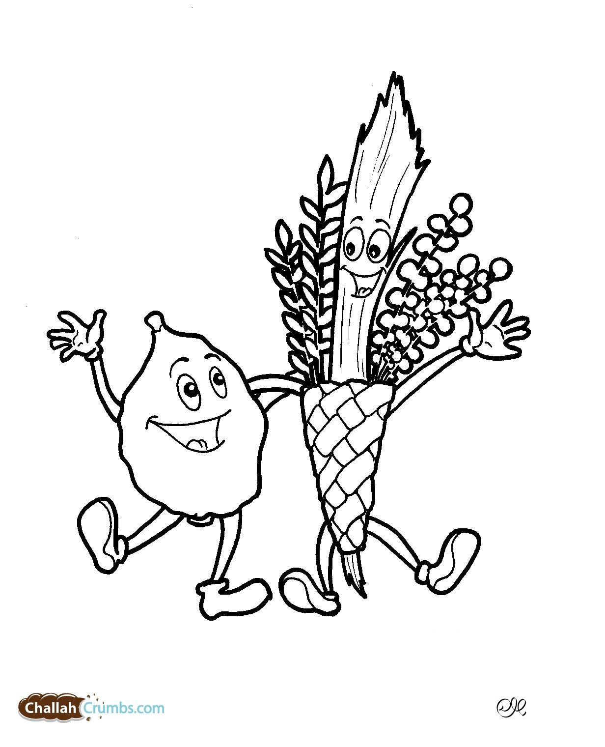 A Lulav And Etrog Coloring Page Easy And Awesome