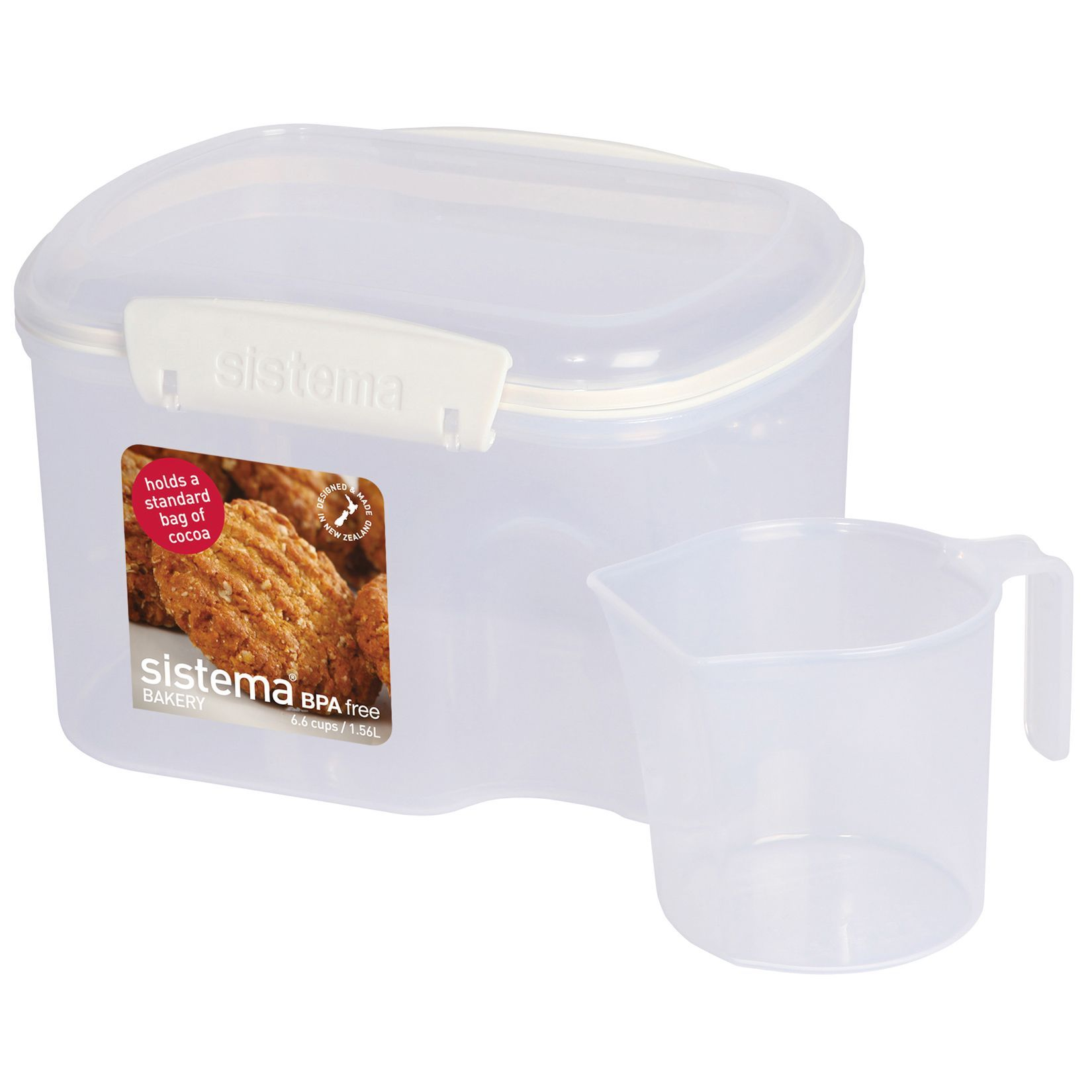 Best Kitchen Gallery: Sistema 1230 6 6 Cups Clear Rectangular Bakery Storage Container of Plastic Storage Containers By Size on rachelxblog.com