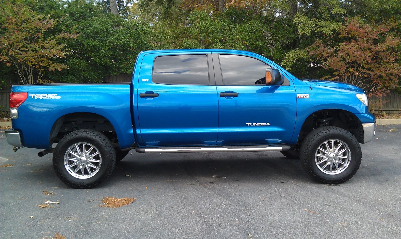 2007 blue toyota tundra with 4 inch lift Google Search