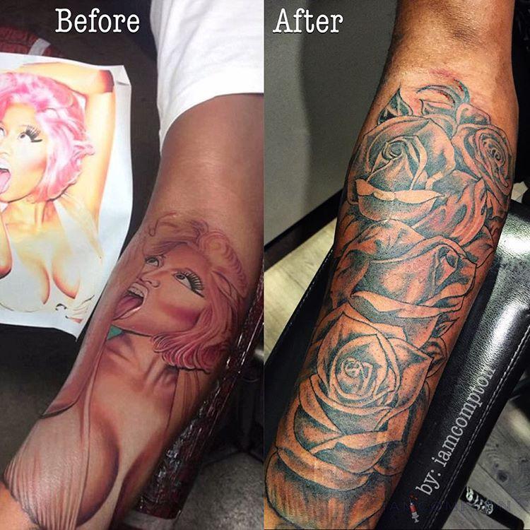 Samuels Finally Covers Up Nicki Minaj Tribute Tattoo on