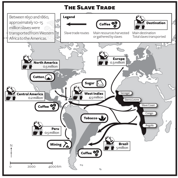 Slave Trade Map Movement of People Pinterest
