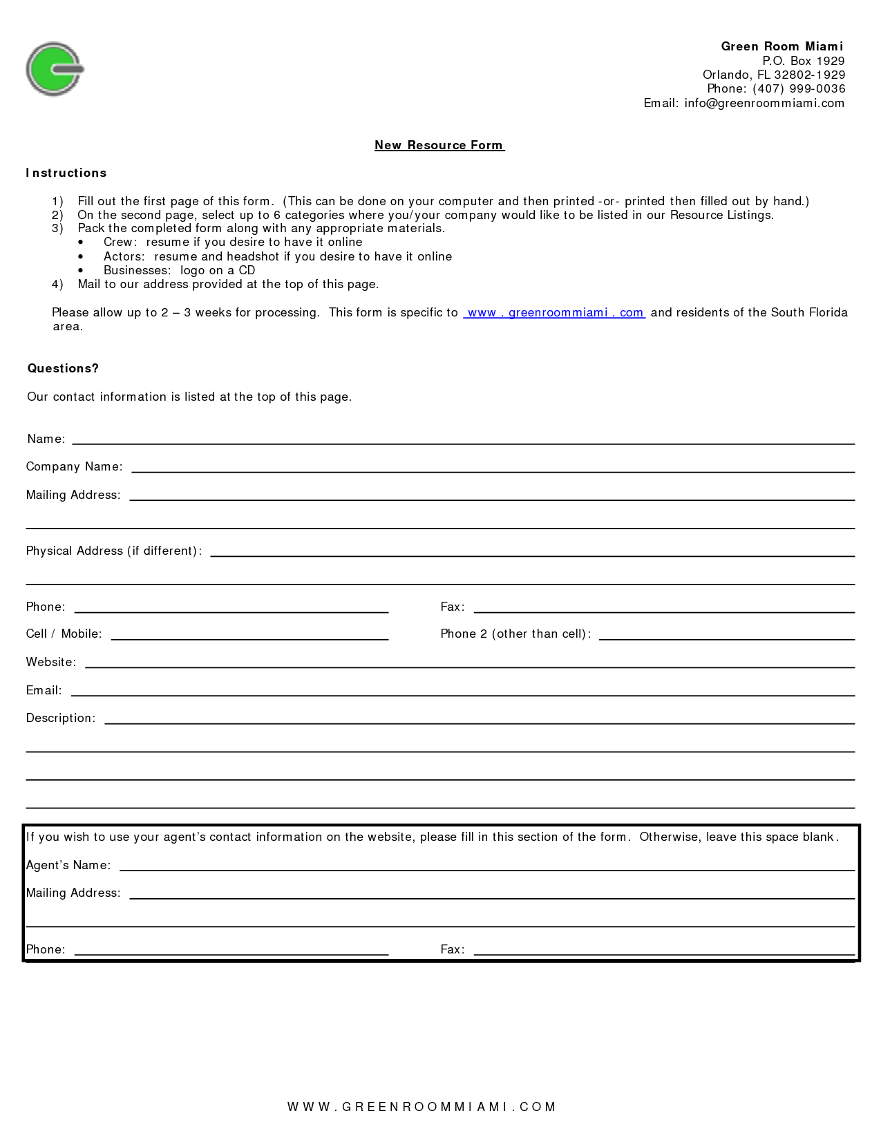 Fill In The Blank Resume