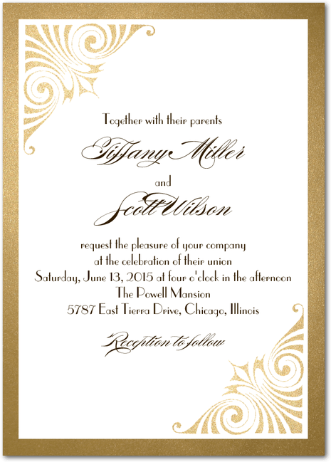 Love and Luster Signature White Wedding Invitations in