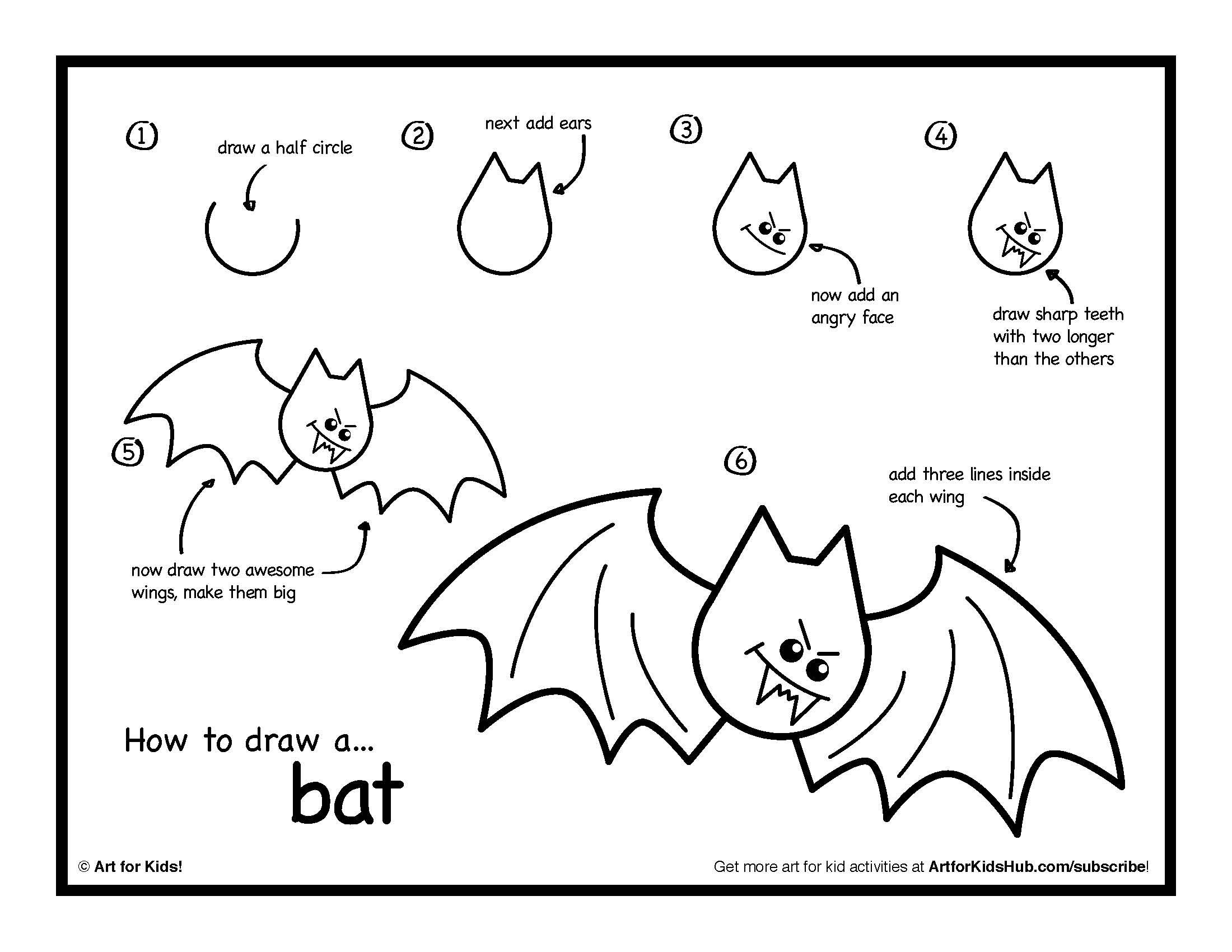 How To Draw A Bat Done