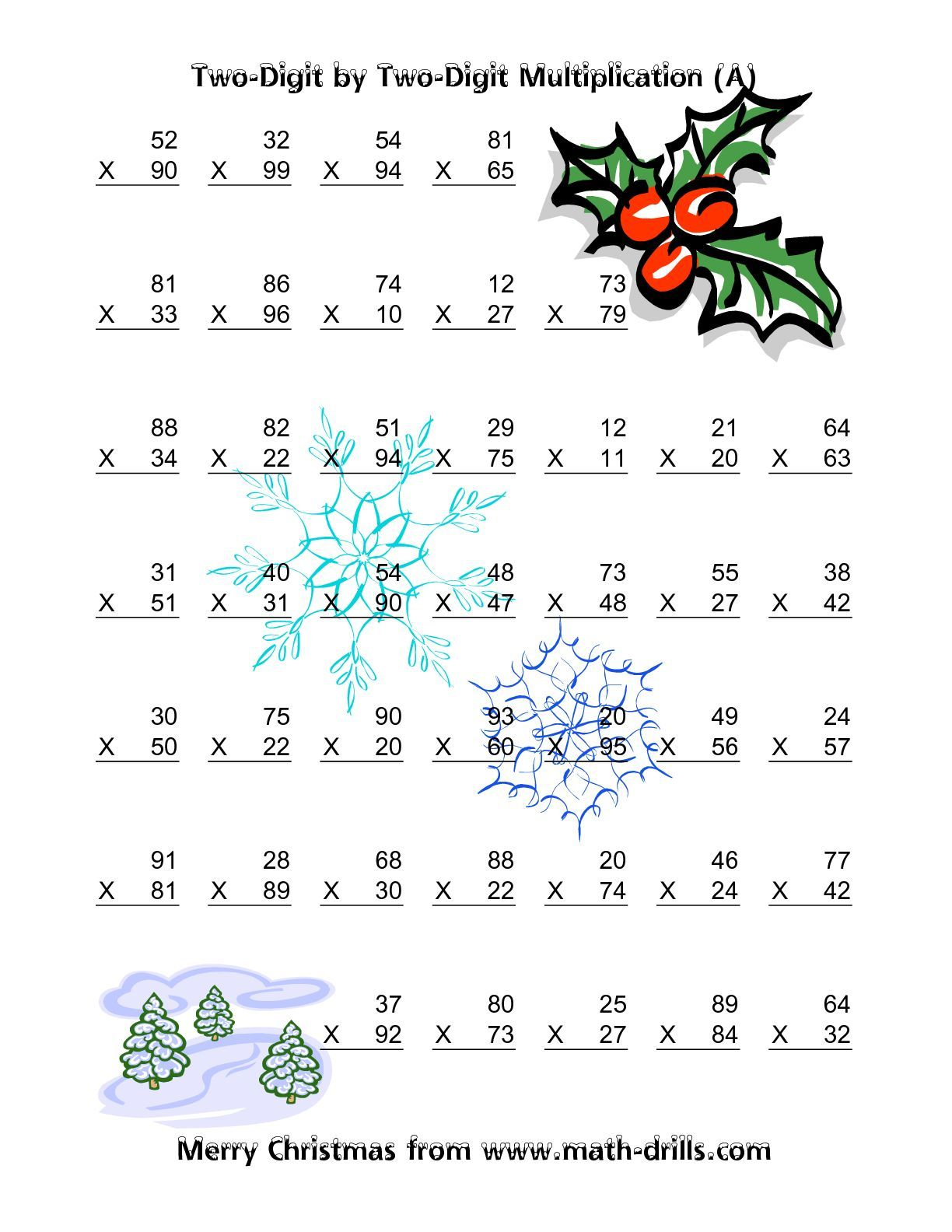 Christmas Worksheet For 3 Year Old