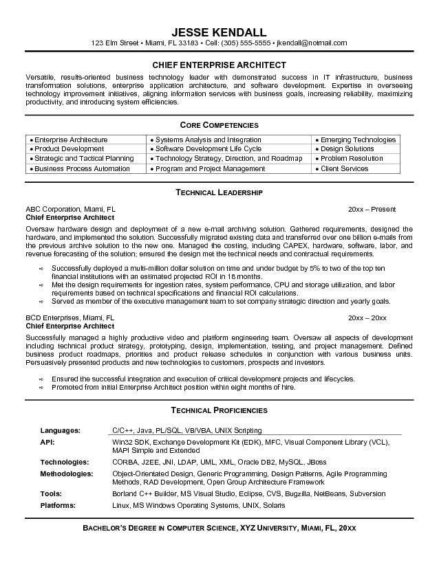 sample architect resume resume sample - Project Architect Resume