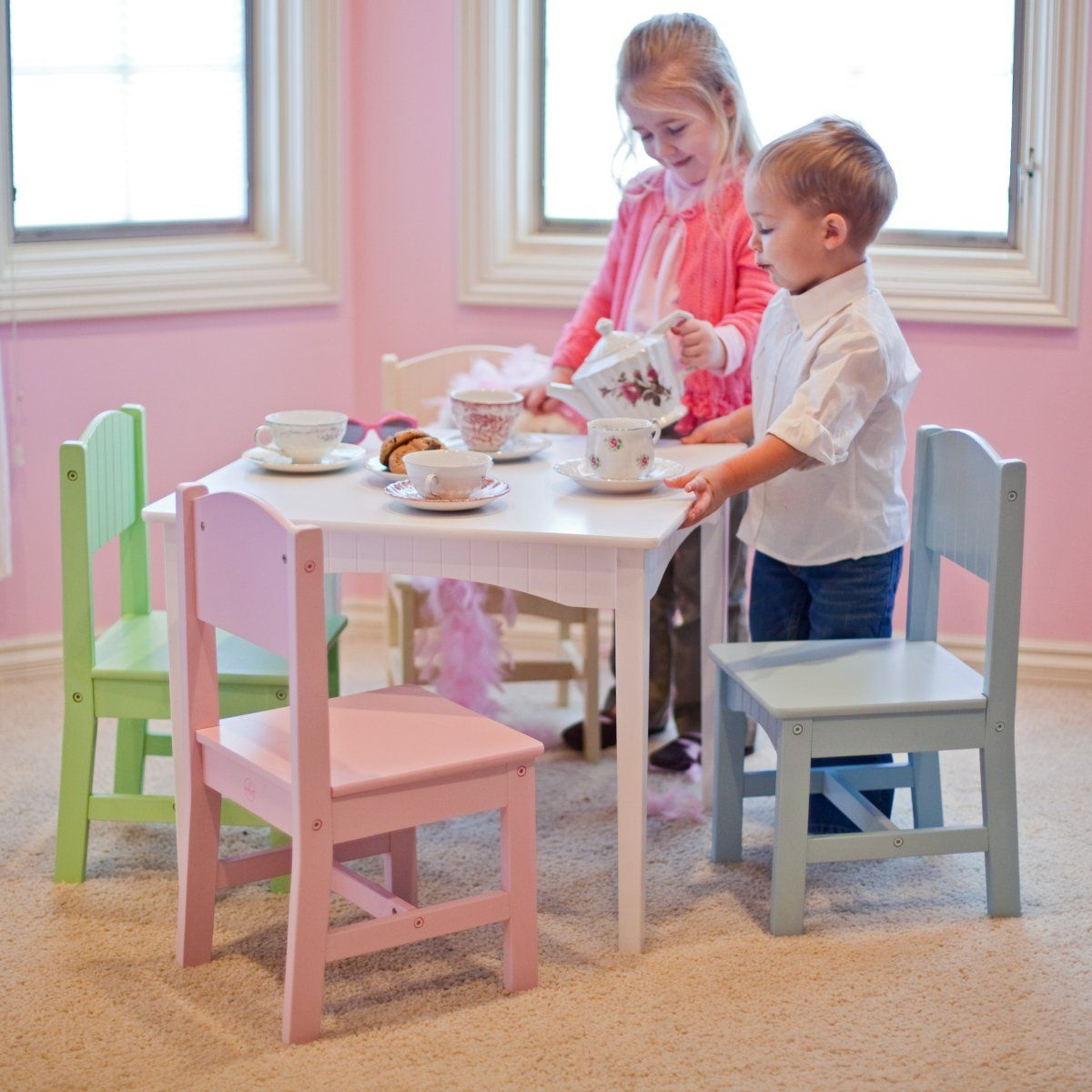 KidKraft Nantucket Pastel Table and Chair Set Childrens