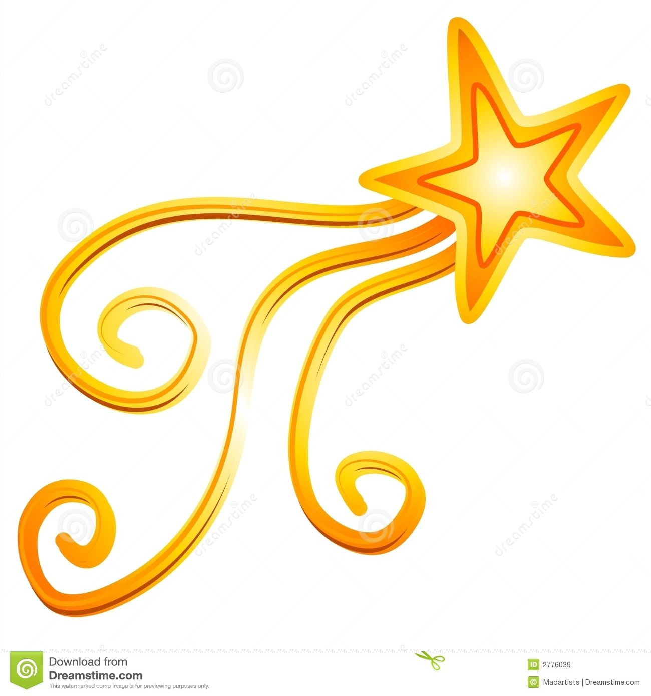 Animated Star Clip Art gold yellow shooting star clipart