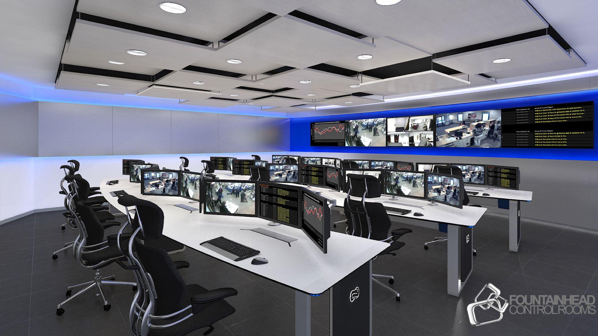 NOC Furniture Design Solution. NOC Control Room Design. 24
