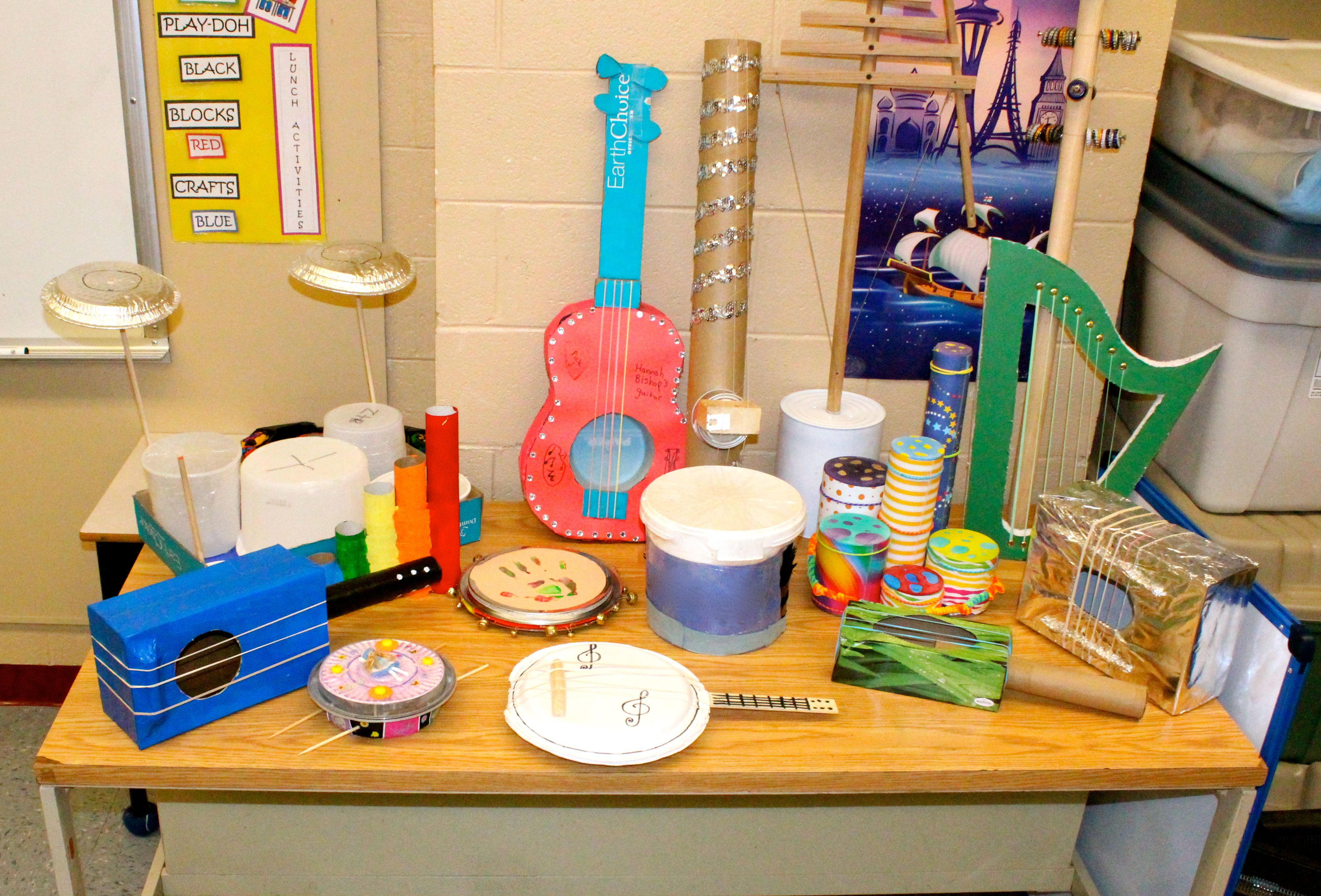 Instruments Made By Grade 4 Students After A Sound Unit To