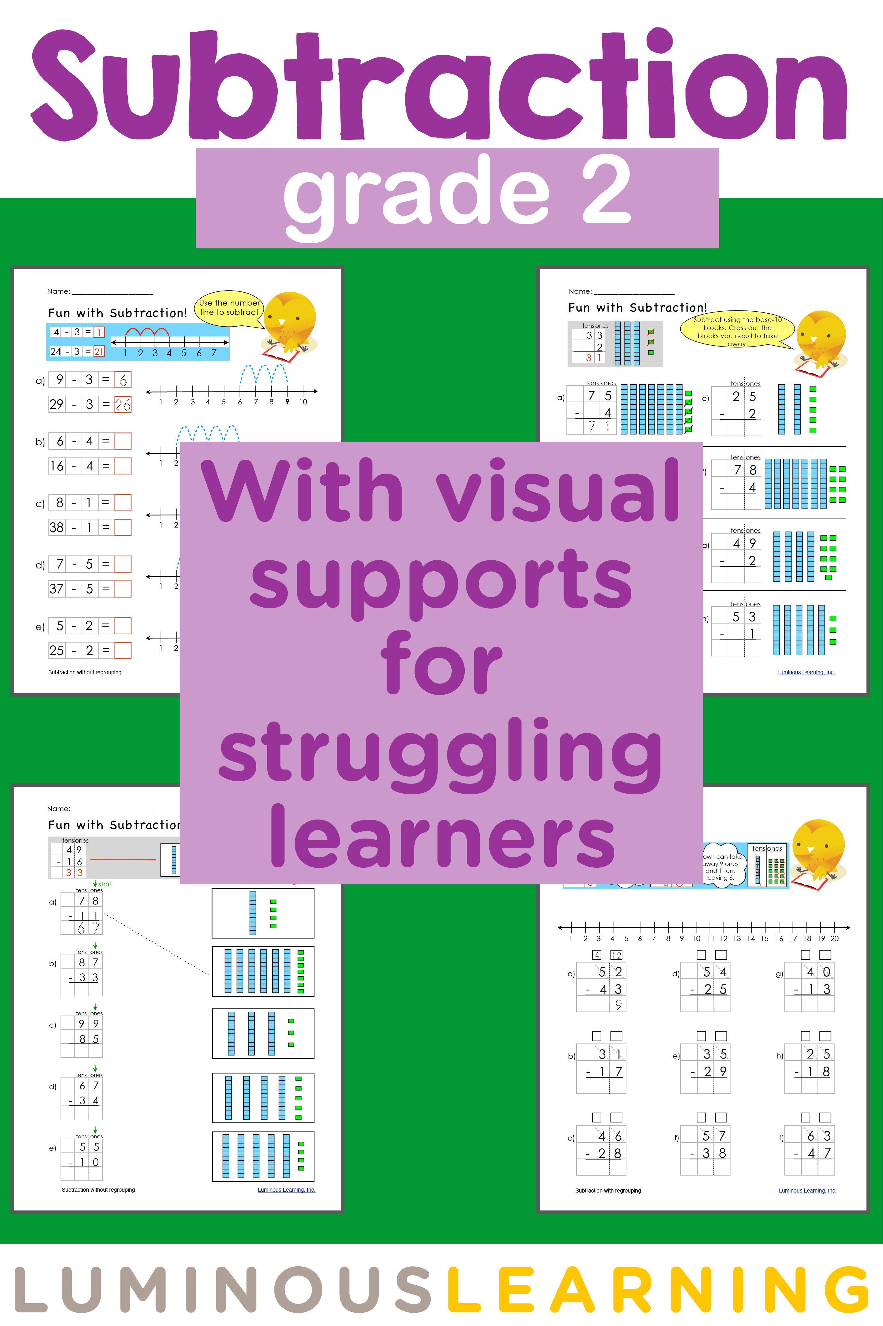 Grade 2 Subtraction E Workbook Making Math Visual